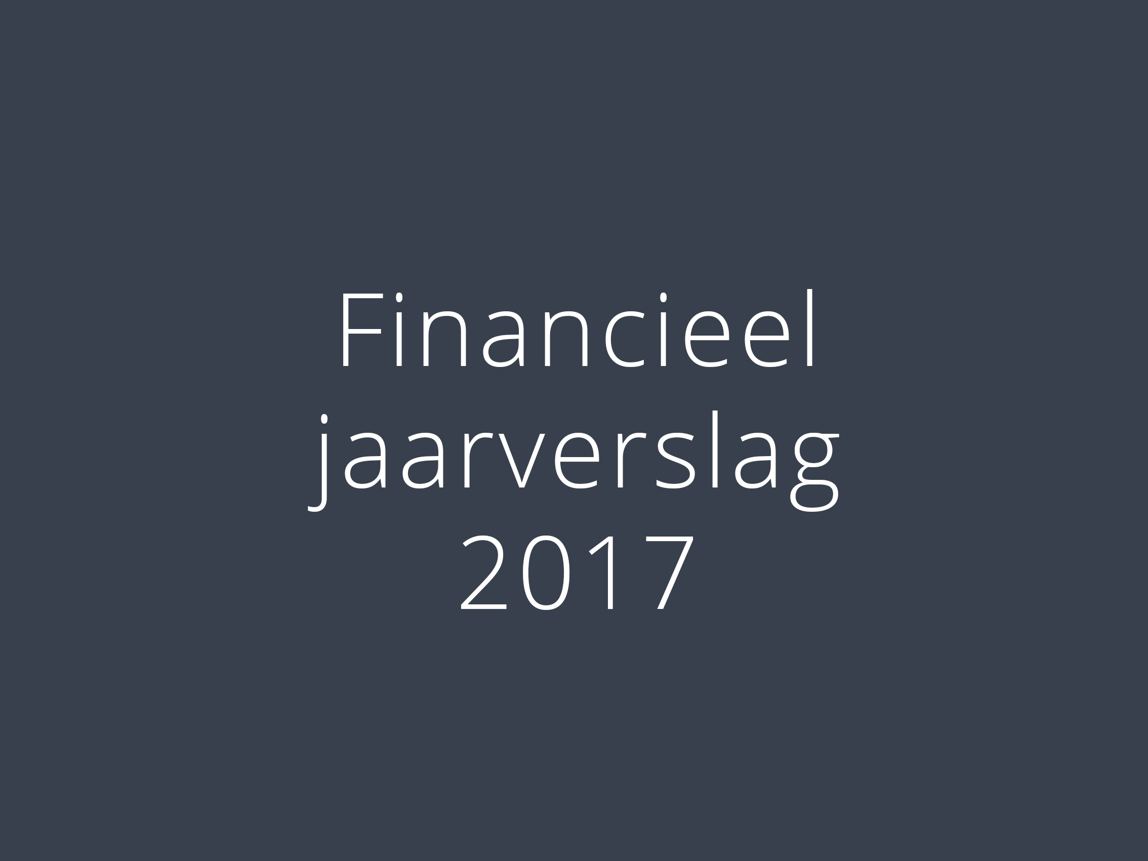 financieel jaarverslag 2017